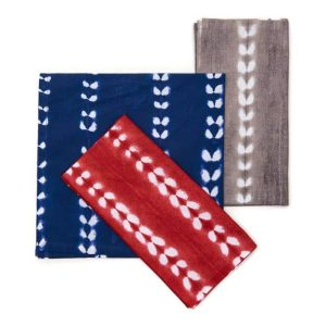 Block Stripe Tie-Dye Cotton Napkin