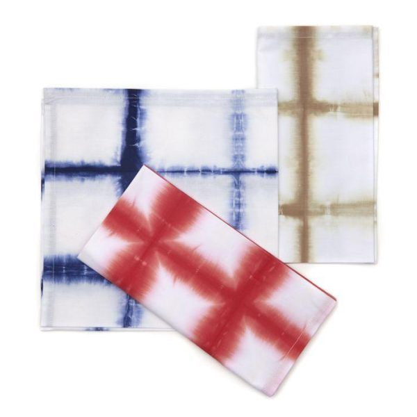 Large Check Tie-Dye Cotton Napkin